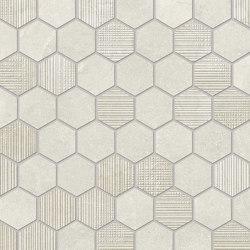 Eureka Mosaico Esagona Bianco | Ceramic mosaics | EMILGROUP