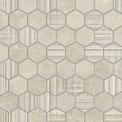 Eureka Mosaico Esagona Sabbia | Ceramic mosaics | EMILGROUP