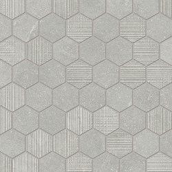 Eureka Mosaico Esagona Grigio | Ceramic mosaics | EMILGROUP