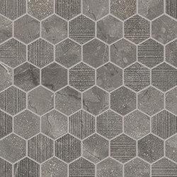 Eureka Mosaico Esagona Moka | Ceramic mosaics | EMILGROUP