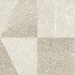 Eureka Decoro Intarsio Bianco/Sabbia | Piastrelle ceramica | EMILGROUP