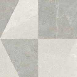 Eureka Decoro Intarsio Bianco/Grigio   Ceramic tiles   EMILGROUP