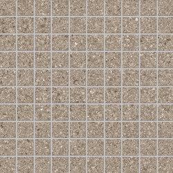 Grainstone Mosaico 3x3 Taupe | Ceramic mosaics | EMILGROUP