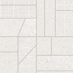 Grainstone Mosaico Big Mix White | Ceramic mosaics | EMILGROUP