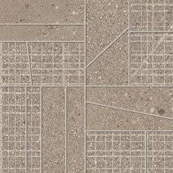Grainstone Mosaico Big Mix Taupe | Ceramic mosaics | EMILGROUP