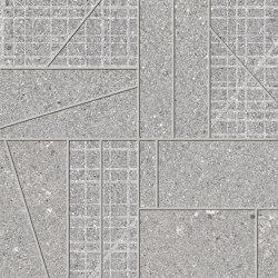 Grainstone Mosaico Big Mix Grey | Ceramic mosaics | EMILGROUP