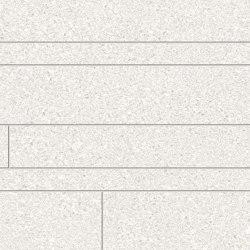 Grainstone Listelli Sfalsati White | Ceramic mosaics | EMILGROUP