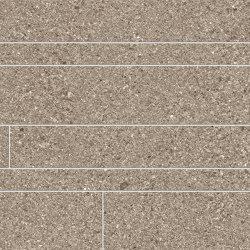 Grainstone Listelli Sfalsati Taupe | Ceramic mosaics | EMILGROUP