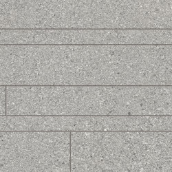 Grainstone Listelli Sfalsati Grey | Ceramic mosaics | EMILGROUP