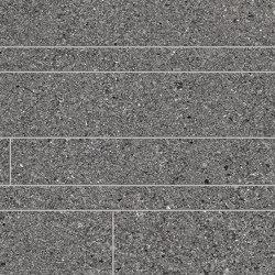 Grainstone Listelli Sfalsati Dark | Mosaicos de cerámica | EMILGROUP