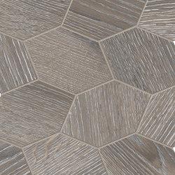 Provoak Decoro Turtle Grigio Spazzolato | Mosaici ceramica | EMILGROUP