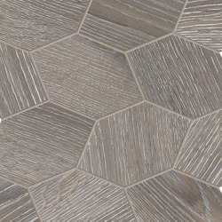 Provoak Decoro Turtle Grigio Spazzolato | Ceramic mosaics | EMILGROUP