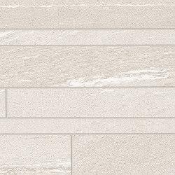 Listelli Sfalsati Martellata White | Ceramic mosaics | EMILGROUP