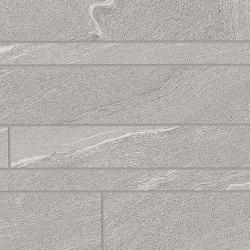 Listelli Sfalsati Martellata Grey | Ceramic mosaics | EMILGROUP