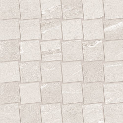 Mosaico Dado Martellata White | Ceramic mosaics | EMILGROUP