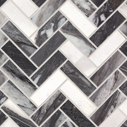 Tele di Marmo Decoro Trama Calacatta Renoir | Ceramic mosaics | EMILGROUP