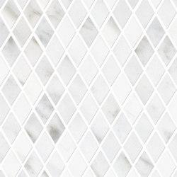 Tele di Marmo Decoro Losanghe XS Statuario Michelangelo | Ceramic mosaics | EMILGROUP