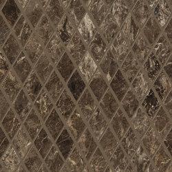 Tele di Marmo Decoro Losanghe XS Frappuccino Pollok | Ceramic mosaics | EMILGROUP