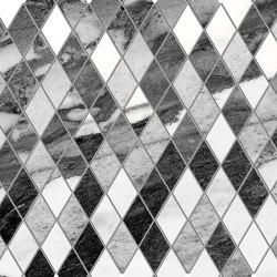 Tele di Marmo Decoro Losanghe XS Calacatta Renoir | Ceramic mosaics | EMILGROUP
