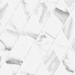 Tele di Marmo Decoro Losanghe XL Statuario Michelangelo | Ceramic mosaics | EMILGROUP