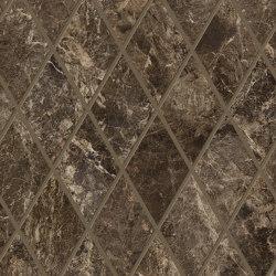 Tele di Marmo Decoro Losanghe XL Frappuccino Pollok | Ceramic mosaics | EMILGROUP