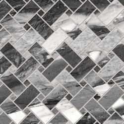 Tele di Marmo Decoro Intrecci Calacatta Renoir | Ceramic mosaics | EMILGROUP