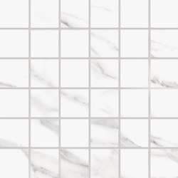 Tele di Marmo Mosaico 5X5 Statuario Michelangelo | Ceramic mosaics | EMILGROUP