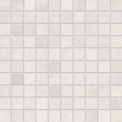 Vulcanika Raku Mosaico 3x3 Bianco | Ceramic mosaics | EMILGROUP