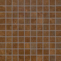 Vulcanika Raku Mosaico 3x3 Ruggine | Keramik Mosaike | EMILGROUP