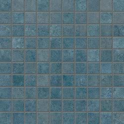 Vulcanika Raku Mosaico 3x3 Blu | Ceramic mosaics | EMILGROUP