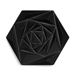 Floral Full Black Matte | Ceramic tiles | Mambo Unlimited Ideas