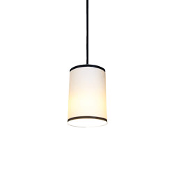 Bradwell Pendant Matte White with Black Stripe | Suspended lights | Lyngard