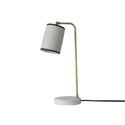 Bradwell Task Lamp Beige Granite with Black Stripe | Table lights | Lyngard