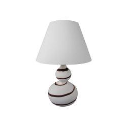 Cooper Double Gourd Table Lamp Beige Granite with Buffalo Stripe | Lámparas de sobremesa | Lyngard