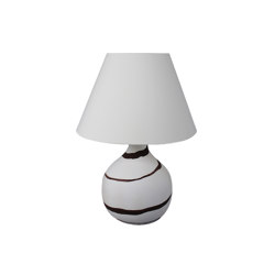 Cooper Small Table Lamp Beige Granite with Buffalo Stripe | Table lights | Lyngard