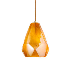 Facet Pendant Gold Lustre   Suspended lights   Lyngard