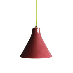 Marney Large Pendant Claret and Copper | Suspended lights | Lyngard