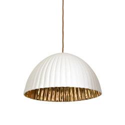 Pinnox XLarge Pendant White/ 24 carat gold | Suspended lights | Lyngard