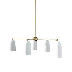 Plex Chandelier Matte White | Suspended lights | Lyngard