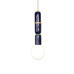 Plex Micro Three Pendant Peacock Lustre | Suspended lights | Lyngard