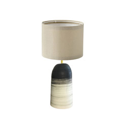 Plex Small Table Lamp Brush Stroke Stripe Jet | Table lights | Lyngard