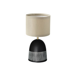 Plex Medium Table Lamp Tribal Etched Jet | Table lights | Lyngard