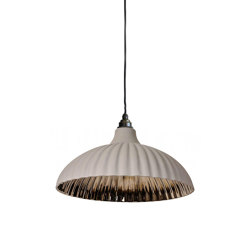 Rialto Large Pendant Grey and Platinum | Suspended lights | Lyngard