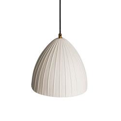 Rushton Large Pendant White | Suspended lights | Lyngard