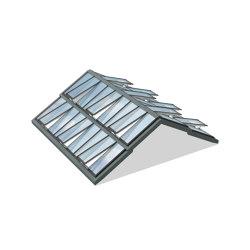 Stufen-Sattel-Lichtband 25° | Fenstertypen | Velux Commercial