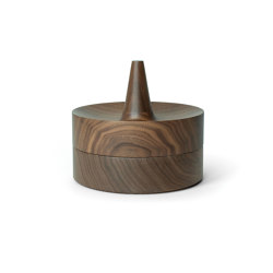Tani Bowl & Mirror Set walnut wood | Storage boxes | Caussa