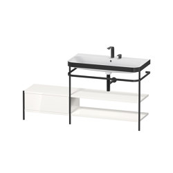 Happy D.2 Plus - Furniture washbasin c-bonded with metal console floor-standing | Wash basins | DURAVIT