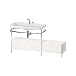 Happy D.2 Plus - Furniture washbasin c-shaped with metal console floor-standing | Wash basins | DURAVIT