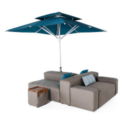 Lounge Outdoor System | Family Island with parasol | Parasols | IKONO
