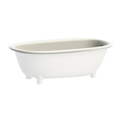 Semi-inset bathtub in White Tec Plus | Bathtubs | Devon&Devon